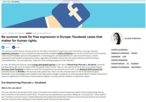 No summer break for free expression in Europe: Facebook cases that matter for human rights