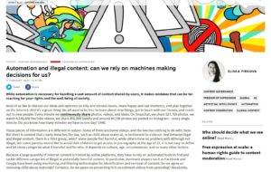 Automation and illegal content: can we rely on machines making decisions for us?